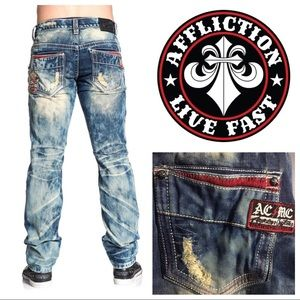 Men's Affliction ACE FALLEN TREVORTON BLEACH